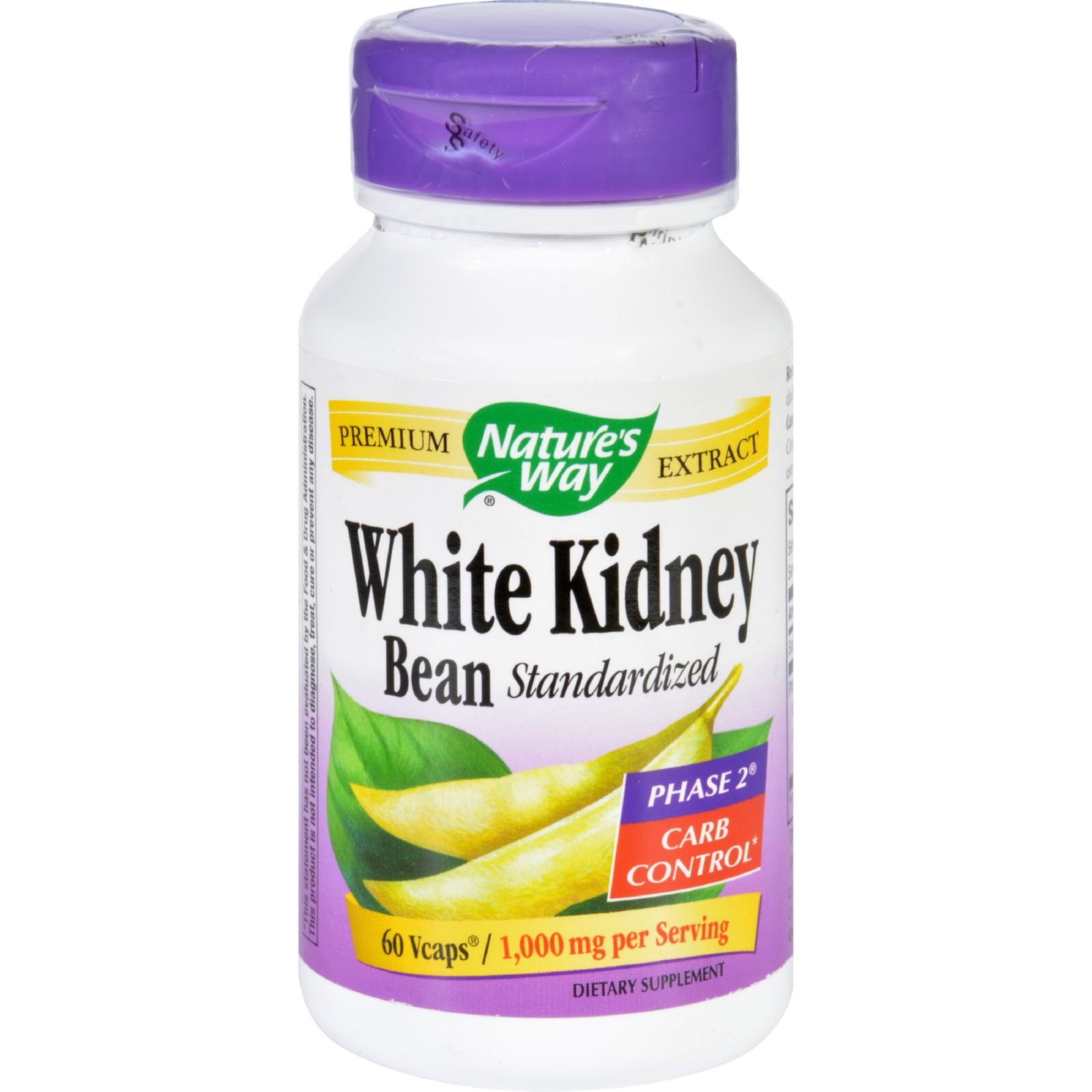 Natures Way White Kidney Bean - 60 Vegetarian Capsules ...
